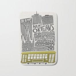 New Orleans City Cityscape Bath Mat