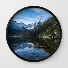 Mills Lake - Rocky Mountain National Park Wall Clock