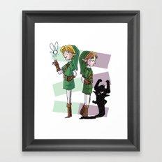The Fairy and The Imp Framed Art Print