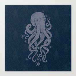 Octopus Squiggly King Of The Sea Pattern Canvas Print