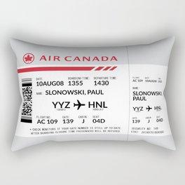 Boarding Pass SLP Rectangular Pillow