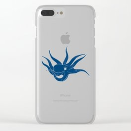 Cephalopods: Grunge Clear iPhone Case