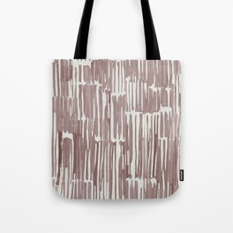 Simply Bamboo Brushstroke Red Earth on Lunar Gray Tote Bag