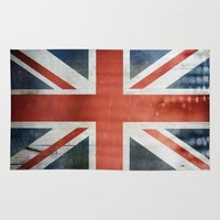 union jack Area & Throw Rugs featuring Great Britain, Union Jack by Arken25