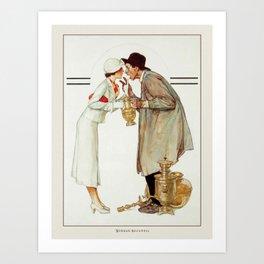 Vintage Poster-Norman Rockwell-Brass Merchant. Art Print