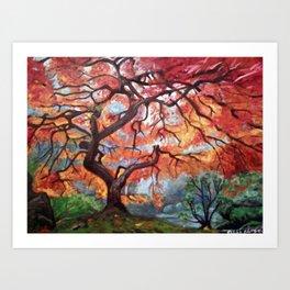 Portland Japanese Maple Tree Art Print