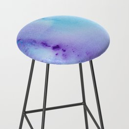 Abstract Watercolor Art Blue And Purple Modern Painting Bar Stool