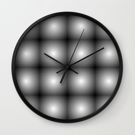 reflected black Wall Clock