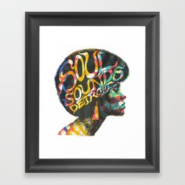 Soul Sounds Detroit Framed Art Print