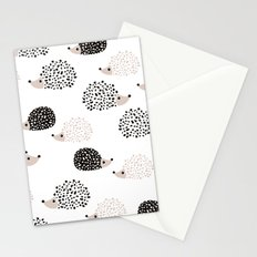 Hedgehog friends black and white spots Stationery Cards