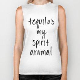 Tequila's my Spirit Animal Biker Tank