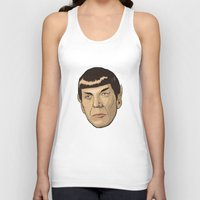 spock Tank Tops featuring Spock by Mimi
