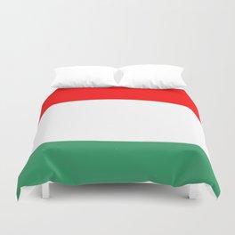 flag of hungary  3 -hungary, hungarian, magyar,Magyarország, hungria,Budapest Duvet Cover