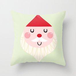 Adorable christmas Santa isolated on white Throw Pillow