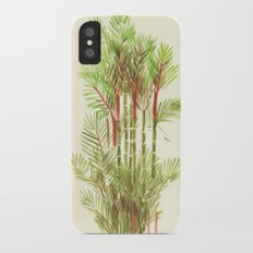 Palmier Rouge - Red Palmtree Slim Case iPhone X