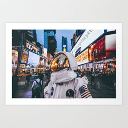 Space At Times Square Art Print