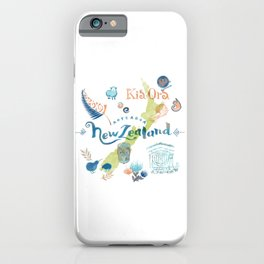 Drawings from New Zealand iPhone Case