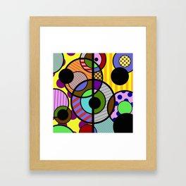 Patterned Retro - Geometric, Abstract Artwork Framed Art Print