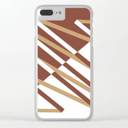 Fracture (Coffee) Clear iPhone Case