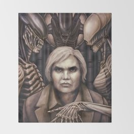 Giger Portrait Throw Blanket
