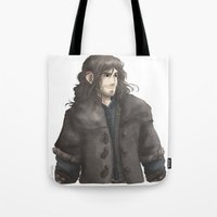 kili Tote Bags featuring Kili  by ScottyTheCat