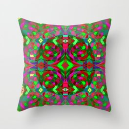 Quantum Portal C - Open and Ready Throw Pillow