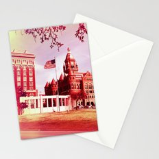 FLAG IN DEALEY PLAZA Stationery Cards