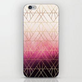 Pink Ombre Triangles iPhone Skin