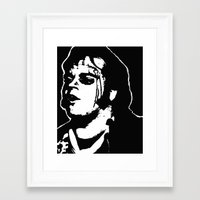 rocky horror picture show Framed Art Prints featuring Eddie (Rocky Horror Picture Show) by Blake Lee Ferguson