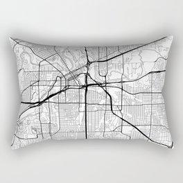 Fort Worth Map White Rectangular Pillow