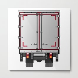 Lorry Rear Doors Metal Print