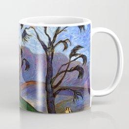 'Lovers Walk' pastoral landscape painting by Marianne von Werefkin Coffee Mug