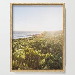 Summer sunset in Santa Cruz Serving Tray