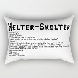 Helter Skelter (black on White) Rectangular Pillow