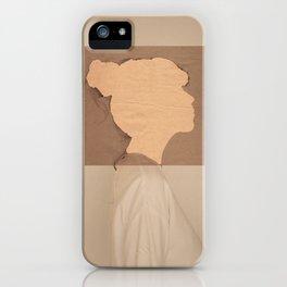 Paper portrait iPhone Case