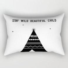 Stay Wild Beautiful Child Rectangular Pillow
