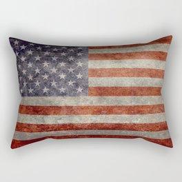 USA flag - Retro vintage Banner Rectangular Pillow
