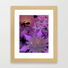 Snowflakes and Dragons Framed Art Print
