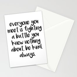 SKAM - Everyone you meet is fighting a battle you know nothing about Stationery Cards