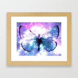 Celestial Butterfly Pink Lavender Teal Framed Art Print