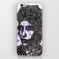 bob dylan iPhone & iPod Skins featuring Bob Dylan by Travis Poston