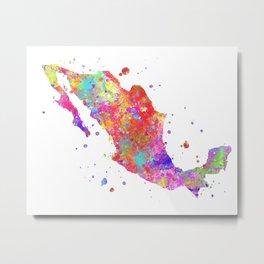Mexico Map Metal Print