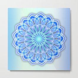 Blue winter flower Metal Print