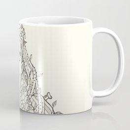 Woman with skulls earrings Coffee Mug