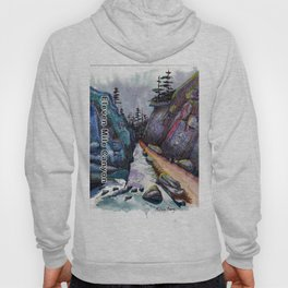 Eleven MiIe Canyon with text Hoody