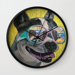 Frosty Face Friday with Gracie Gabriella at the Beach Wall Clock