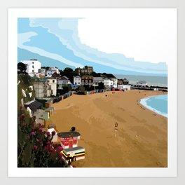 Broadstairs Beach Art Print