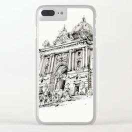 Wien, 2019, Ink drawing on paper Clear iPhone Case