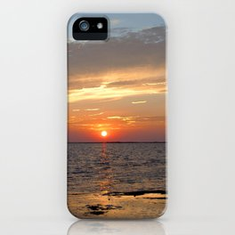 Watercolor Sunset, Janes Island 09, Maryland iPhone Case