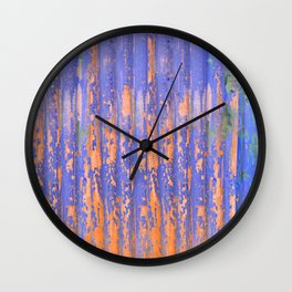 Chippy Corrugated Wall Wall Clock